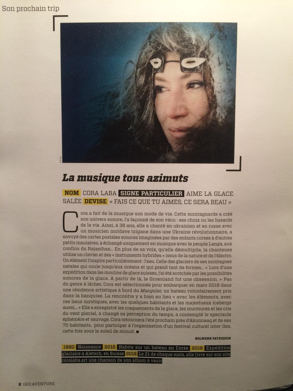 Article Géo Aout 18